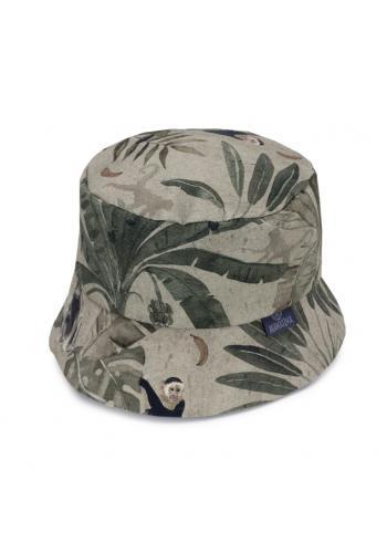 Bavlněný dětský klobouk s motivem opic