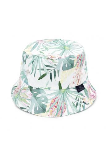 Bavlněný dětský klobouk s tropickým motivem