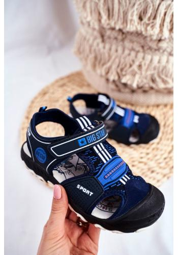 Chlapecké tmavomodré sandály Big Star na suchý zip
