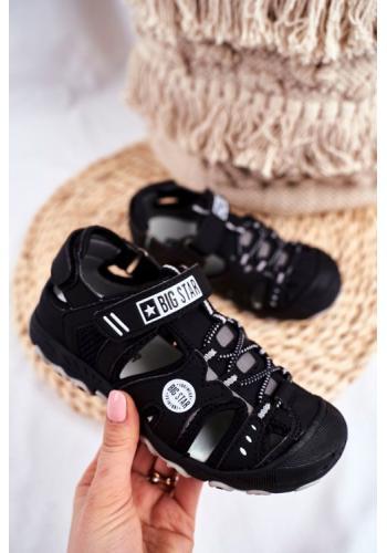Černé chlapecké sandály Big Star na suchý zip