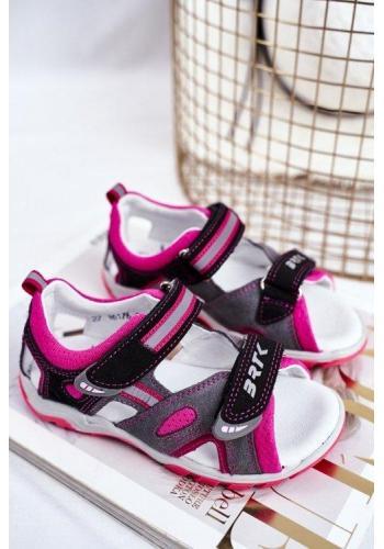 Profylaktické růžovo-šedé sandály pro dívky