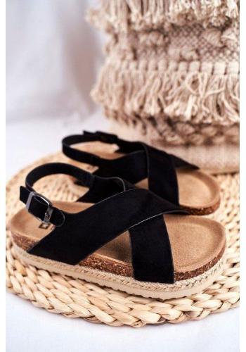 Dívčí sandály Big Star v černé barvě