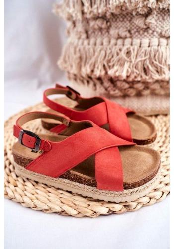 Oranžové módní sandály Big Star pro dívky