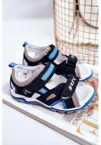 Chlapecké profylaktické sandály modro-černé barvy