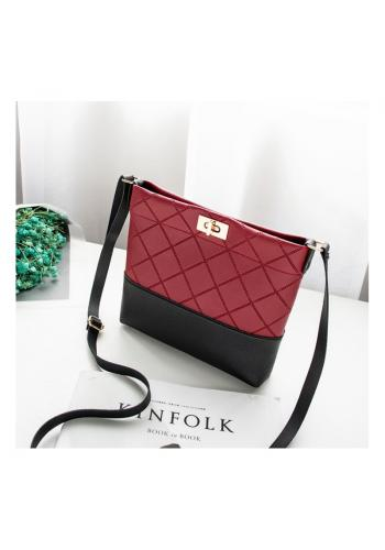 Dámská mini kabelka z ekokůže v červené barvě