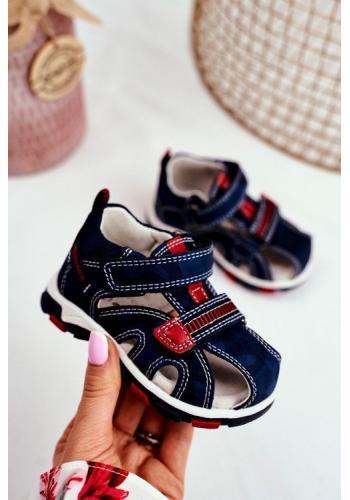 Tmavomodré sandály na suchý zip pro děti