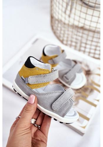 Dětské profylaktické sandálky pro děti v trojbarevné kombinaci