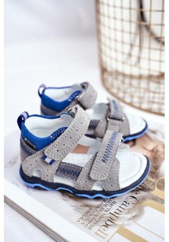 Šedo-modré profylaktické sandály pro chlapce