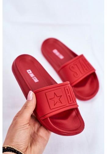 Červené gumové dětské pantofle Big Star