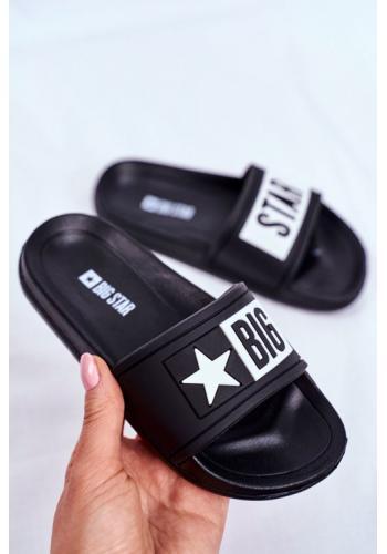 Big Star gumové pantofle pro děti v bílo-černé barvě