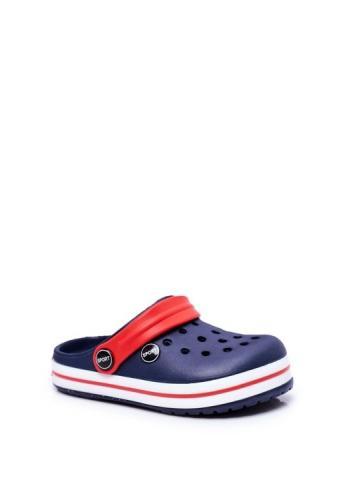 Tmavomodré gumové pantofle pro děti