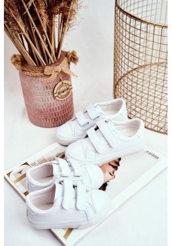 Bílé dětské tenisky na suchý zip