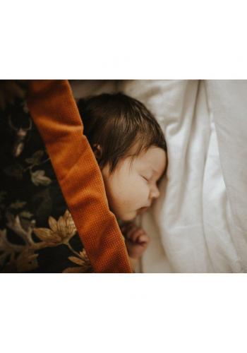Teplá sametová deka pro děti s motivem vintage květin