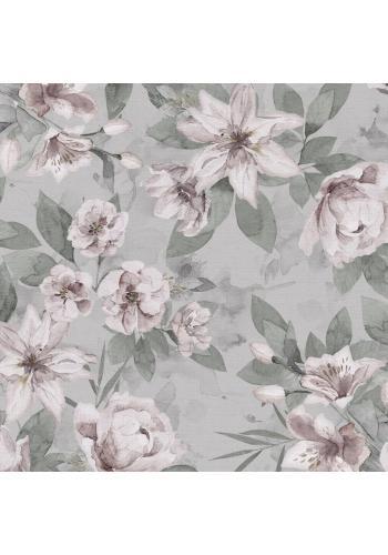Malý polštář s vintage květy - 100% bambus