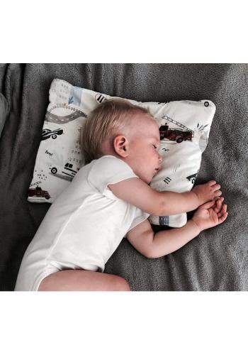 Starorůžový malý sametový polštář pro děti s vintagekvetmi