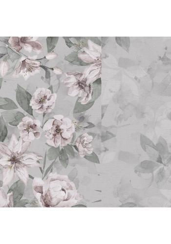 Kojící polštář ve tvaru C s vintage květy