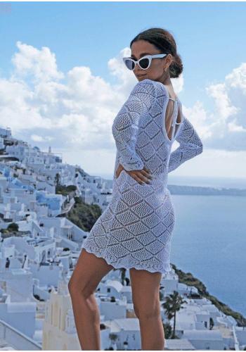 Letní azurového tunika pro dámy v bílé barvě