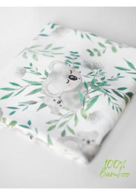 Bambusová deka na léto pro miminka - koala (polštář grátis)