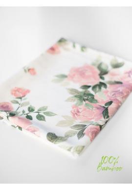 Letní bambusová deka pro miminka - magické květiny (polštář grátis)