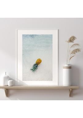 Plakát s motivem ananasu