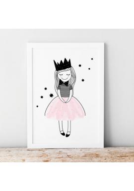 Dětský plakát s motivem princezny Amelky
