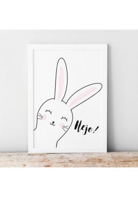 Dětský plakát s motivem králíka