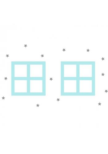 Pastelová sada nálepek v podobě oken domu