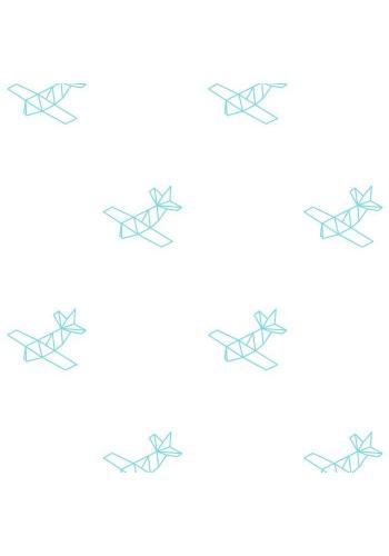 Sada nálepek ve stylu origami s motivem letadel