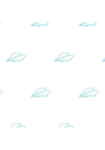 Pastelová sada nálepek ve stylu origami s motivem papírových letadel