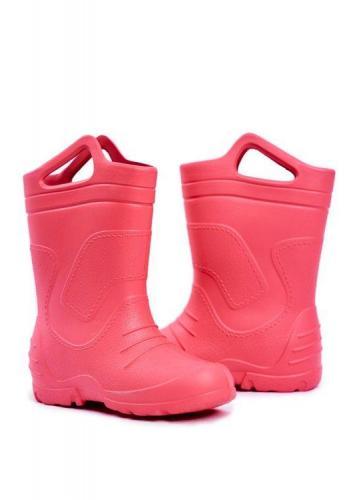 Růžové klasické gumáky pro dívky