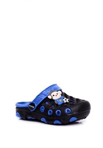 Modročerné chlapecké kroksy s opicí