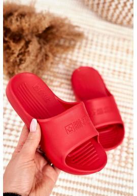 Gumové červené dětské pantofle Big Star