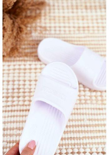 Bílé gumové dětské pantofle Big Star