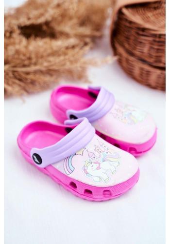 Stylové růžové kroksy pro dívky s poníkem
