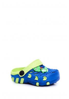 Zeleno-modré kroksy s krokodýlem pro chlapce