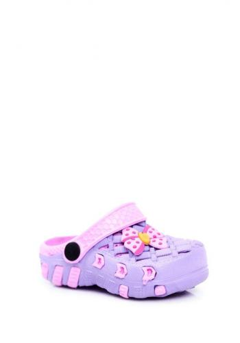 Dívčí fialové kroksy s mašlí