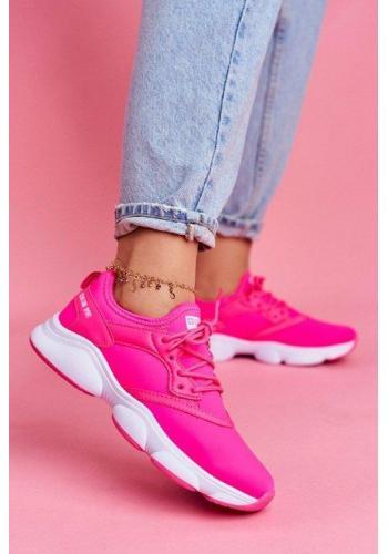 Dámské stylové neonové-růžové tenisky Big Star