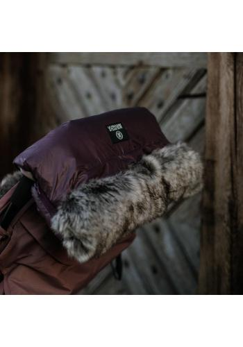 Voděodolný rukávník na madlo kočárku - ve fialové barvě