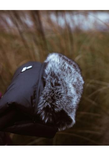 Vodeodolný rukávnik na madlo kočiara - v čiernej farbe