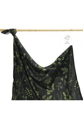 Bambusová deka na léto s bylinkovým motivem