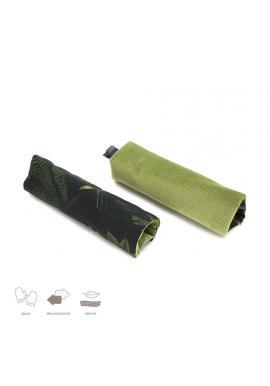 Obojstranné ochranné kryty na pásy do kočiara s bylinkovým motívom - zamat