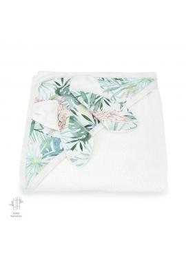 Dětský měkký ručník s tropickým motivem - 100% bambus