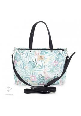 Příruční taška na kočárek s tropickým motivem