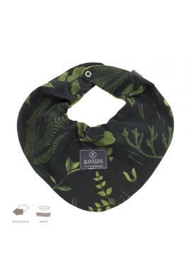 Oboustranný sametový šál s bylinkovým motivem