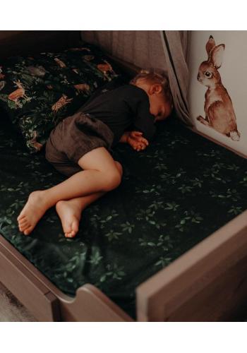 Dětské prostěradlo na postel s gumkou s bylinkovým motivem