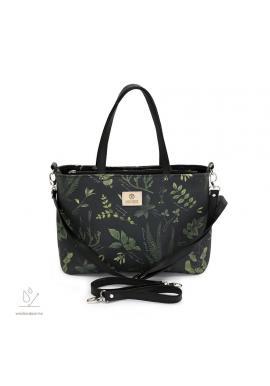 Příruční taška na kočárek s bylinkovým motivem
