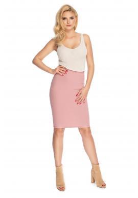 Pouzdrová sukně pro dámy v pudrové barvě
