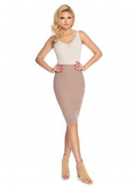 Stylová tužková sukně v cappuccinovej barvě pro dámy