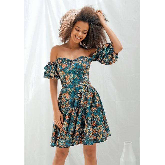 Romantické dámské šaty španělského stylu s květinovým motivem