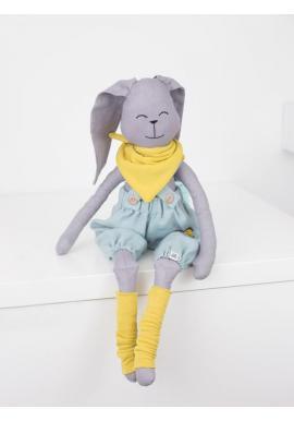Dětský textilní králík v šedé barvě - Dominik